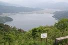 余呉湖と縄張り図…