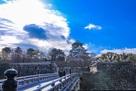 極楽橋と大坂城天守閣…