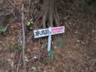 千磐神社側登城口の道標…