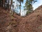 埴生城の堀切