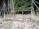 登山道入口の柵です…