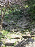 主郭への旧道