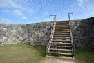 城壁に上がる階段…
