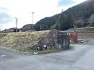 米蔵の石垣と廃線跡…