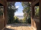 長寿院楼門から見た彦根城…