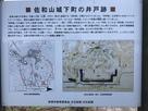 佐和山城下町の井戸跡の案内板…