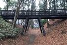 空堀を渡す橋