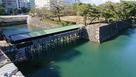 天守台から見た鞘橋…