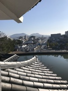 南櫓二階から城下町(殿町)を眺める…