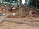 本郭南側の発掘現場…