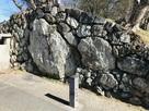 三の丸口門跡 鏡石…
