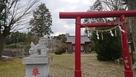 天守遠景、現在の八幡神社より…