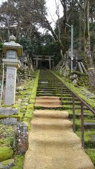白石神社の石段…