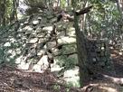 折れのある石垣(三左衛門殿丸)…
