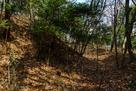 城域南端の横堀と土塁…