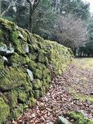 妻木城士屋敷跡の石垣…