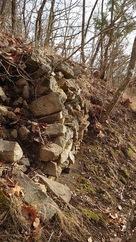 帯郭にある石積…
