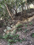 西の登り石垣