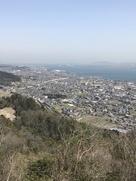 山頂から見た琵琶湖…