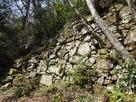 木村屋敷跡の石垣…