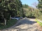 五徳峠にある登山口駐車場…