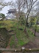 清海堀の石垣とお城…