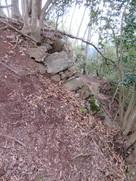 本丸東側石垣の南端…