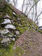 本丸東側石垣の北側…