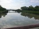 蓮池城を分断する佐賀江川…