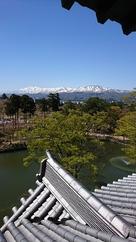 三階櫓から妙高山…