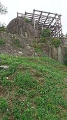 懸造の天守展望台…