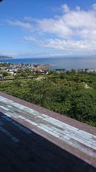 城から津軽海峡が良く見えます…