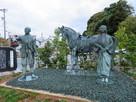利家と松の銅像…