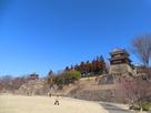 尼ヶ淵からの南櫓と西櫓