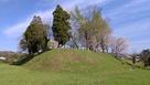 豊福城 堀から見た本丸…