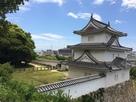 明石城天守跡から見た坤櫓…