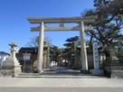 岸城神社の鳥居…