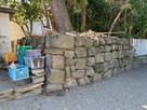 岸城神社展示石垣…