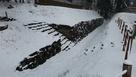 発掘調査で出た西櫓の石垣と石段…