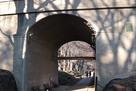 お堀の線路跡