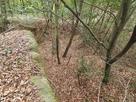 空堀のような地形…