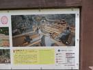 上・山麓居館の復元イメージ図 左下・「信…