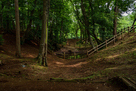 主郭の堀と鐘掘り池…