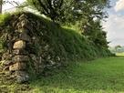 外枡形東側の石垣…