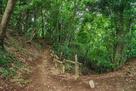 小沢峰と富士塚の間の堀切…