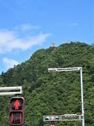 麓より岐阜城天守を望む