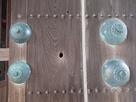 鯱の門に残る弾痕の跡…