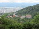 阿弥陀ケ峰城から見る清水寺…