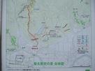 地図(東登城道入口の標識から抜粋)…