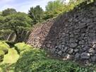 二の丸西面の石垣…